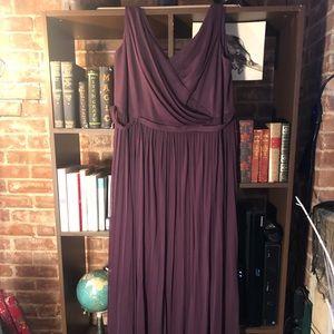 David's Bridal Long Bridesmaids Dress